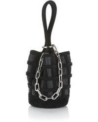 Alexander Wang - Caged Roxy Mini Bucket In Black With Rhodium - Lyst