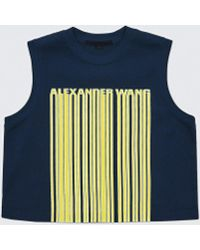Alexander Wang - Barcode Cropped Top - Lyst