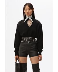 Alexander Wang - Cropped Patch Pullover - Lyst