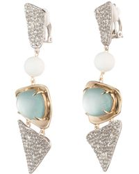 Alexis Bittar - Crystal Encrusted With Matte White Accent Dangling Lucite Clip Earring You Might Also Like - Lyst