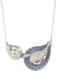 Alexis Bittar - Frosted Crystal Encrusted Paisley Rope Hinged Bib Necklace - Lyst
