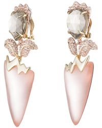 Alexis Bittar - Crystal Encrusted Tulip Clip Earring - Lyst