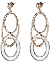 Alexis Bittar - Hammered Metal Orbiting Link Post Earring - Lyst