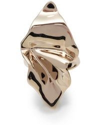 Alexis Bittar Crumpled Gold Ring