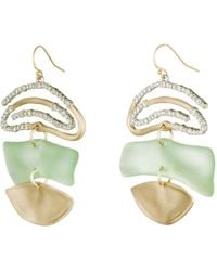 Alexis Bittar - Crystal Encrusted Spiral Mobile Earring - Lyst