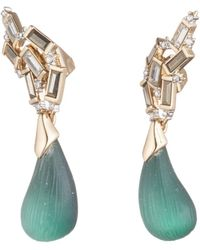 Alexis Bittar - Climbing Crystal Baguette Post With Dangling Dewdrop Earring - Lyst