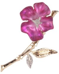 Alexis Bittar - Crystal Encrusted Bamboo Blossom Pin - Lyst