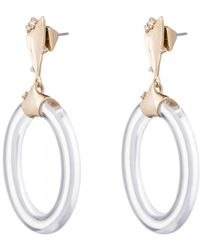 Alexis Bittar - Liquid Metal Hoop Post Earring - Lyst