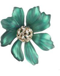 Alexis Bittar - Crystal Baguette Cluster Flower Pin - Lyst