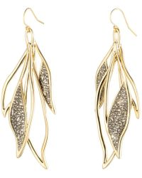 Alexis Bittar Crystal Encrusted Feather Wire Earring