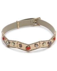 Alexis Bittar - Stone Cluster Buckle Leather Bracelet - Lyst