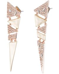 Alexis Bittar - Crystal Encrusted Articulated Triangle Post Earring - Lyst