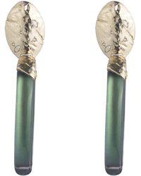 Alexis Bittar - Rocky Metal Oval Clip Earring - Lyst