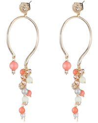 Alexis Bittar - Crystal Encrusted Beaded Cluster Arc Post Earring - Lyst