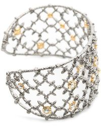 Alexis Bittar - Gunmetal Crystal Studded Spur Lace Cuff You Might Also Like - Lyst