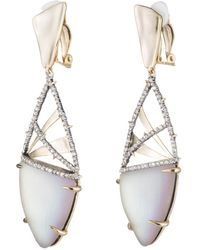 Alexis Bittar - Crystal Encrusted Plaid Clip Earring You Might Also Like - Lyst