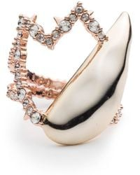Alexis Bittar - Crystal Encrusted Abstract Tulip Ring - Lyst