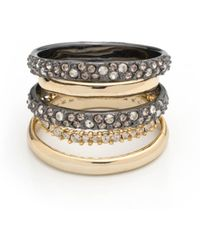 Alexis Bittar - Crystal Encrusted Orbiting Band Ring - Lyst