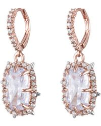Alexis Bittar - Crystal Framed Cushion Lever Back Earring You Might Also Like - Lyst