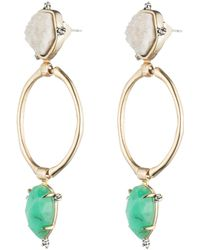 Alexis Bittar - Druzy Stone Post Link Earring You Might Also Like - Lyst