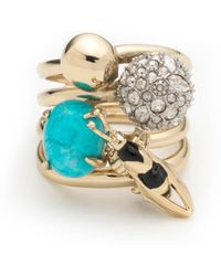 Alexis Bittar - Enameled Hornet Orbiting Band Ring You Might Also Like - Lyst