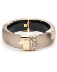 Alexis Bittar - Crystal Encrusted Sectioned Hinge Bracelet - Lyst