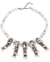 Alexis Bittar - Brutalist Chain Mesh Pearl Necklace - Lyst