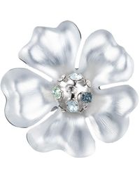 Alexis Bittar - Liquid Rhodium Flower Pin - Lyst