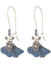 Alexis Bittar - Brutalist Butterfly Swarovski Crystal Wing Drop Earrings - Lyst