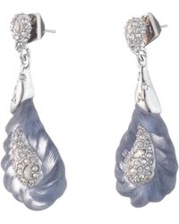 Alexis Bittar - Frosted Crystal Encrusted Paisley Rope Dangling Post Earring - Lyst