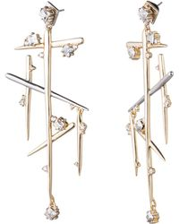 Alexis Bittar - Satellite Crystal Dangling Spike Post Earring - Lyst