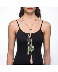 Alexis Bittar - Agaite And Leather Tassel Adjustable Necklace You Might Also Like - Lyst