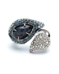 Alexis Bittar - Crystal Encrusted Ombre Paisley Cocktail Ring - Lyst