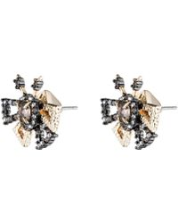 Alexis Bittar - Crystal Encrusted Brutalist Butterfly Stud Earring - Lyst
