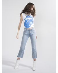Alice + Olivia - Perfect Low Rise Flare Jean - Lyst