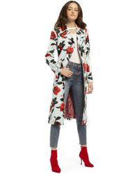 Alice + Olivia - Structured Floral Coat - Lyst