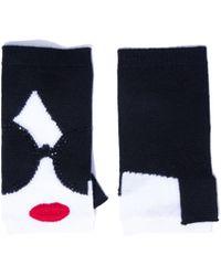 Alice + Olivia - Loe Staceface Fingerless Gloves - Lyst