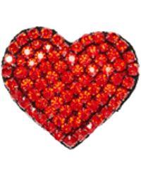 Alice + Olivia - Heart Embellished Brooch - Lyst
