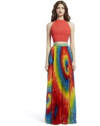 22209b6ac9 Alice + Olivia Kamryn Gathered Maxi Skirt in Blue - Lyst