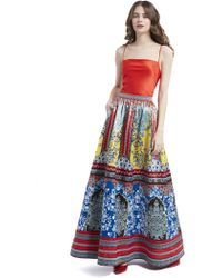Alice + Olivia Tina Ball Gown Skirt - Blue