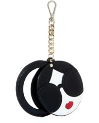 Alice + Olivia Dolly Staceface Mirror Key Charm - Multicolor