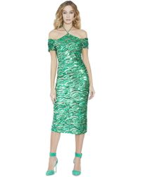 Alice + Olivia - Audra Embellished Off The Shoulder Dresss - Lyst