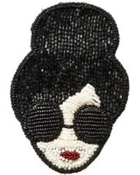 Alice + Olivia - Staceface Beaded Brooch - Lyst