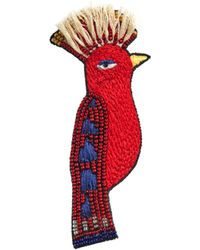 Alice + Olivia - Small Red Bird Brooch - Lyst