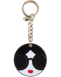 Alice + Olivia Staceface Mirror Keycharm - Black