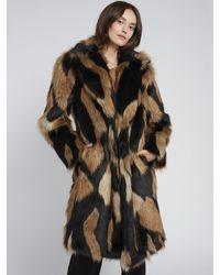 Alice + Olivia Foster Faux Fur Coat - Multicolor