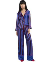 Alice + Olivia - Keir Piped Pyjama Top - Lyst