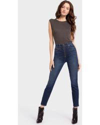 Alice + Olivia - Good High Rise Ankle Skinny Jean - Lyst