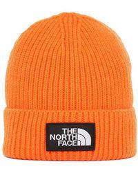 The North Face - Logo Rib Knit Beanie Hat - Lyst