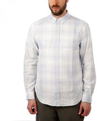 Norse Projects Osvald Light Check Shirt - Blue